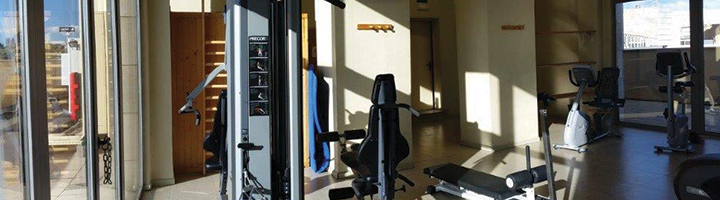 Gym and sauna at Hotel Amura in Alcobendas, near Madrid International Airport